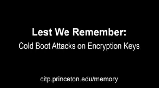 Бид санадаг болов уу?: Cold Boot Attacks on Encryption Keys