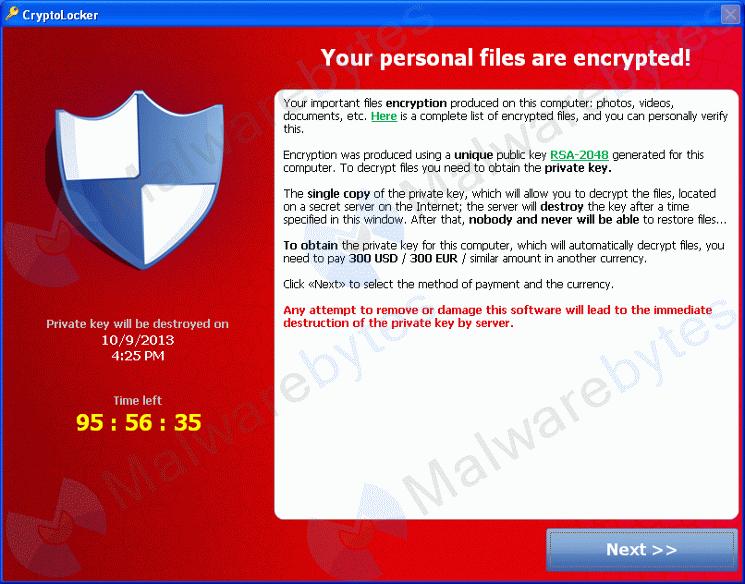 Анхааруулга хэсэг: Цаг яваад эхэлсэнийг харуулж байна. (Хэрвээ мөнгө төлөхгүй тохиолдолд та файлууддаа үүрд нэвтэрч чадахгүй болно.)